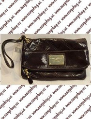 Tommy Hilfiger Dark Chocolate Brown Clutch Style Purse with Free Shipping