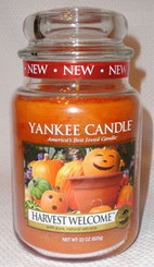Harvest Welcome Yankee Candle Large Jar Spicy Autumn Scent with Free Shipping