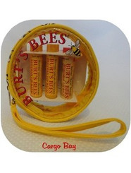 BURT'S BEES 3 PACK BEESWAX LIP BALM & WRISTLET with FREE SHIPPING