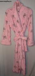 PINK OSCAR DE LA RENTA ROBE L/XL with FREE SHIPPING