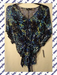 Women's Plus Size Multi Color Blouse 0x 1x or 2x with Free Shipping