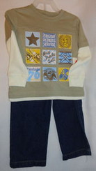 Toddler Jeans & Long Sleeve Shirt Set Size 2T or 3T with Free Shipping