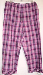 PLUS SIZE 1X PINK FLANNEL PAJAMA PANTS