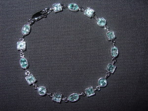 Sterling Silver and Blue Topaz Bracelet with Free Shipping