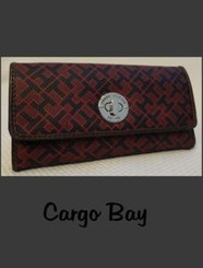 TOMMY HILFIGER RED NAVY LOGO WALLET with FREE SHIPPING