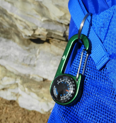 A.T. Mini-Compass & Thermometer Carabiner