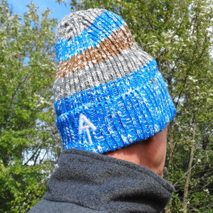 Blue/Brown Knit Cap - Save 40%!