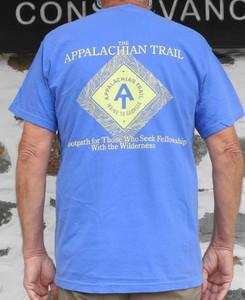 Diamond Cotton T-Shirt in Flo Blue