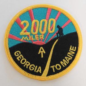 Georgia to Maine 2000 Miler Patch