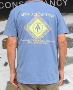 Diamond Cotton T-Shirt in Denim Blue