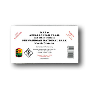 Appalachian Trail and other trails in Shenandoah National Park North District.