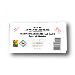 Appalachian Trail and other trails in Shenandoah National Park Central District.