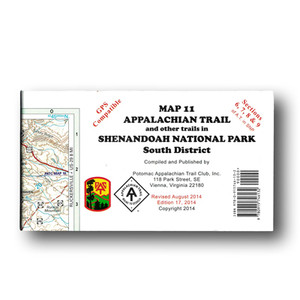 Appalachian Trail and other trails in Shenandoah National Park South District.