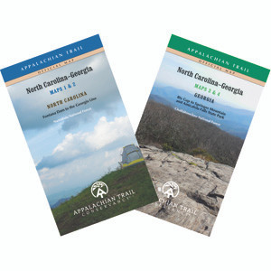 Covers from Fontana Dam through the Nantahala and Chattahoochee National Forests to Springer Mountain, Georgia in four maps on two sheets; 2017 edition.