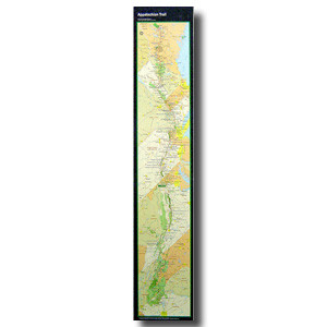"The official National Park Service at-a-glance map is the perfect way to display the entire Appalachian Trail on your wall.  9 1/2"" x 48"""