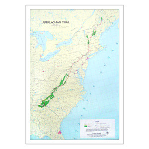Classic Appalachian Trail Poster Map