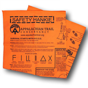 Keep yourself seen and safe, with this blaze-orange, cotton bandanna from the ATC.