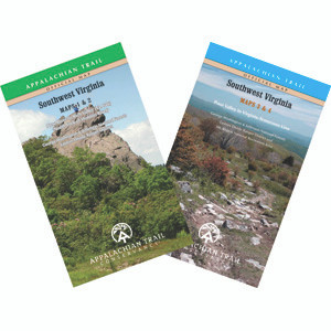170 miles from Pearisburg on the New River to the Tennessee state line in four maps on two sheets; 2015 edition.
