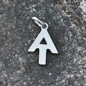 Delicate A.T. monogram charm. Can be added to existing charm bracelets or chains.