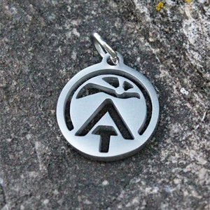 Delicate sunrise ATC logo charm.  Can be added to existing charm bracelets or chains.