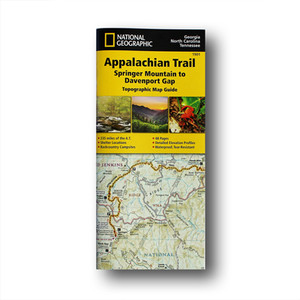 The Springer Mountain to Davenport Gap Topographic Map Guide makes a perfect traveling companion when traversing the Georgia, southeastern Tennessee and southwestern North Carolina, section of the Appalachian Trail.
