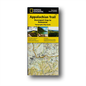 The Davenport Gap to Damascus Topographic Map Guide makes a perfect traveling companion when traversing the southwest Virginia section of the Appalachian Trail.