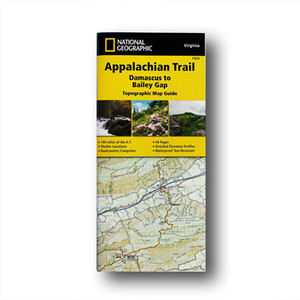 The Damascus to Bailey Gap Topographic Map Guide makes a perfect traveling companion when traversing the southwest Virginia section of the Appalachian Trail.
