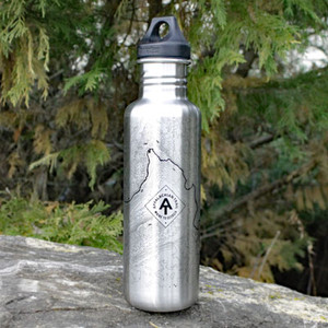 The classic 27 ounce Klean Kanteen bottle with topo lines from an iconic spot on the Appalachian Trail.