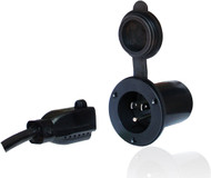 AC Plug Port, Black