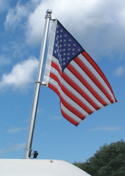 "30"" SS Pole, 24"" x 36"" Recommended Flag Size"