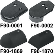 Nylon End Caps, Black, F/V11-3447, ea.