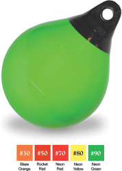 "28"" Net Buoy, Neon Green, 1-1/16"" Rope-Eye Diameter"