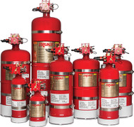 """Fire Extinguisher, 1050 Cu. Ft. Protection, 10"""" Dia., 21.6""""H"""