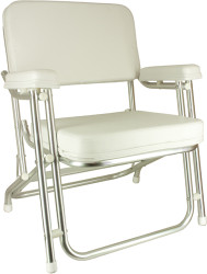 Classic Folding Deck Chair, Aluminum Brite Dip Finish