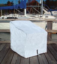 "Deck Chair Cover, White, 29""H x 26""W x 29.5""D"