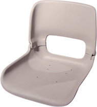 All-Weather High-Back Seat Shell w/T-Nuts, Gray