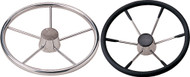 "5-Spoke 11"" Wheel, 25°, Black Cap"