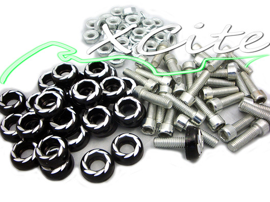 Honda CBR 250 Fairing bolts, M6 - 6mm, Black BT101