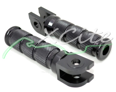 Front foot pegs, black, CBR PEG02BK