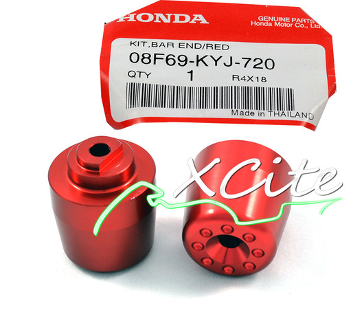 Genuine bar ends CBR250R 11/13, red - 08F69-KYJ-720