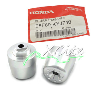 Genuine bar ends CBR250R 11/13, silver- 08F69-KYJ-740