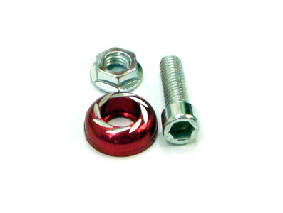 Honda CBR 250 Fairing bolts, M6 - 6mm, Red BT104