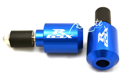 Blue universal GSXR 600 750 1000 bar ends BE105BL
