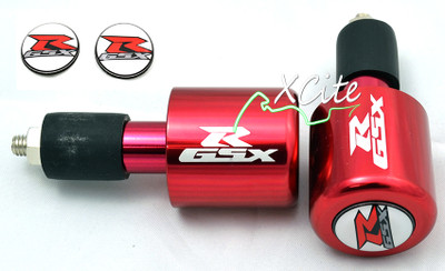 Red GSXR 600 750 1000 bar ends BE109RD