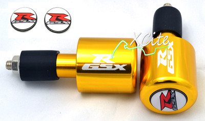 Gold GSXR 600 750 1000 bar ends BE109GL