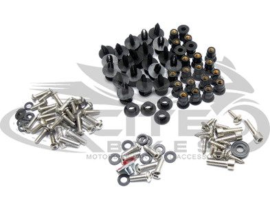 Fairing bolts kit, stainless steel, Kawasaki ZX-6R 2009-2012 BT142