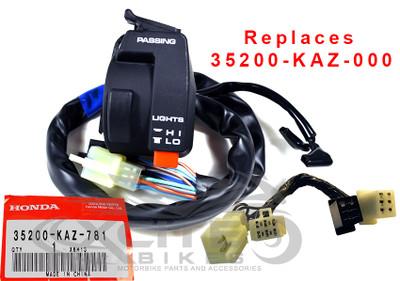 CBR250RR MC22 LHS switch block 1997-1999, replaces p/n 35200-KAZ-000