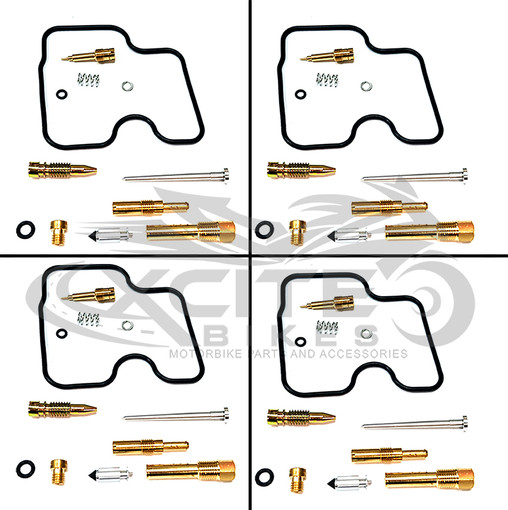 CBR250RR MC22 Keihin carburettor repair kit set (4x) CRK001100