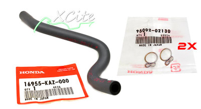 MC22 Fuel hose & clips 16955-KAZ-000 & 95002-02130