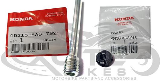 CBR250RR MC22 rear brake pad hanger pin and cap p/n 45215-KA3-732 45203-MG3-016